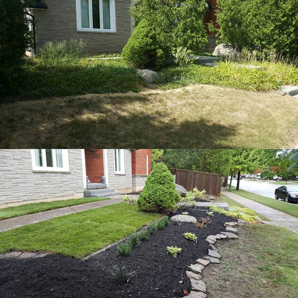 Gardening Services Before And After Garden Cleanup And Construction ...