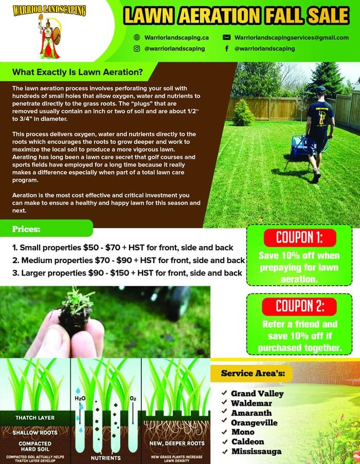 Lawn Aeration Fall Sale